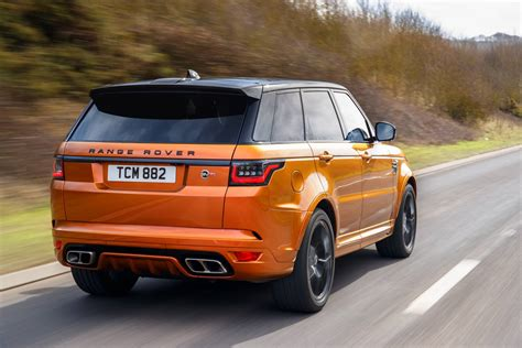 orange range rover svr 2018 range rover sport svr review gtspirit