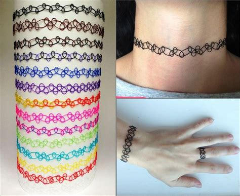 tattoo chokers details about vintage stretch choker necklace retro