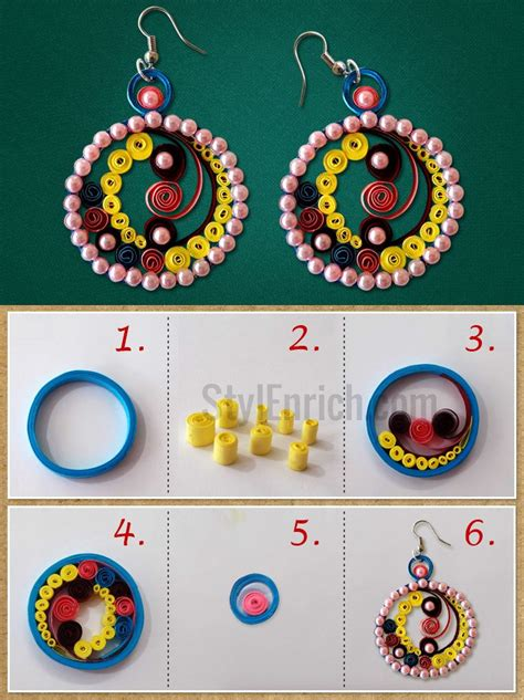 How To Make Easy Paper Earrings At Home - paper quilling earrings that can be easily made at home