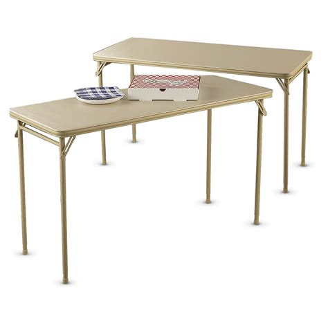 Cosco Table by 2 Cosco 174 1 8 Quot X4 Utility Tables Taupe 167693 Living