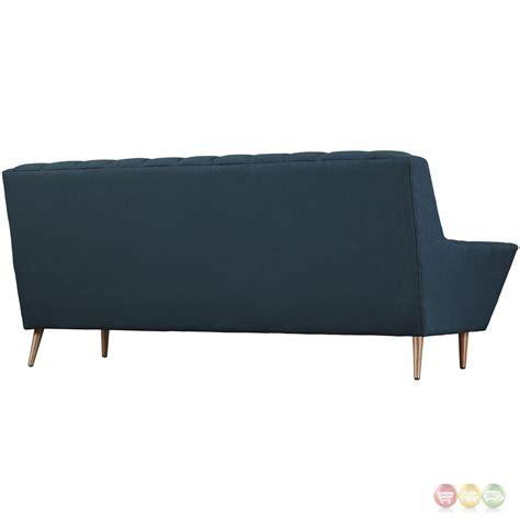 Response Contemporary Button Tufted Upholstered Sofa Azure Contemporary Tufted Sofa