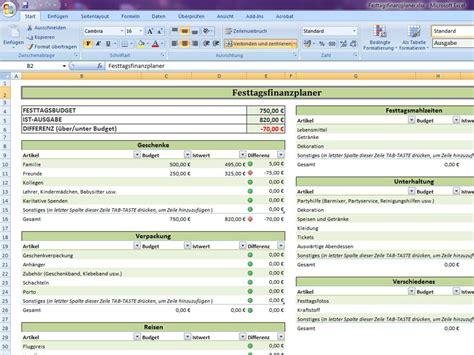 Angebot Vorlage Renovierung Festtagsfinanzplaner Excelvorlage De