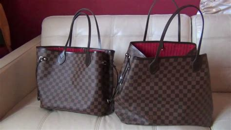 Jual Tas Lv Louis Vuitton Mm Damier Ebene Mirror Quality 1 1 Origina 3 louis vuitton neverfull gm and mm review and comparison