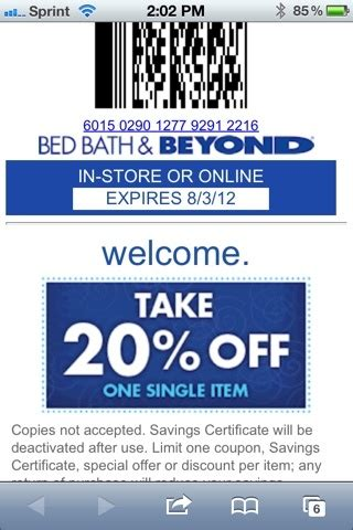 text bed bath and beyond coupon 42 best images about bed bath and beyond coupons on