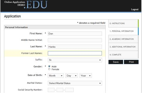 online application software features custom forms