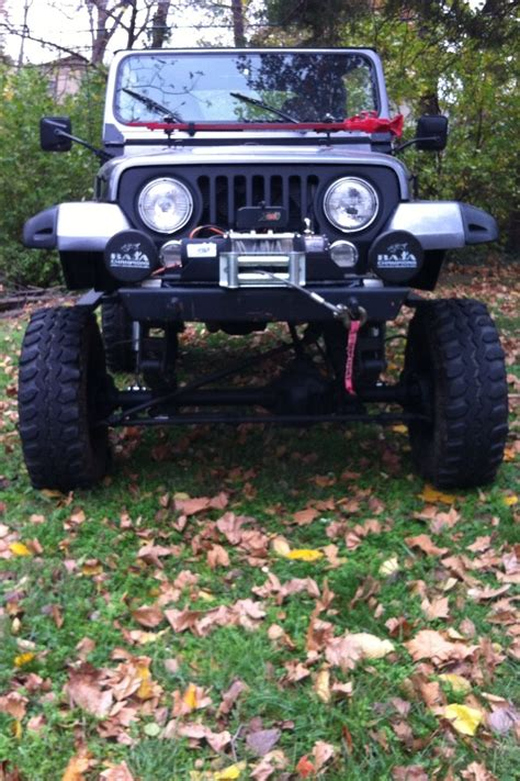 jeep cj grill my 88 yj with custom cj morphed grill chevy v8 mild cam