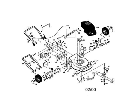 craftsman self propelled lawn mower parts diagram craftsman 6 75 self propelled mower parts craftsman