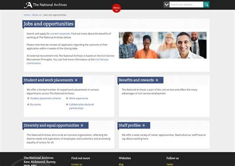 career section website redesign one website of multisites the national