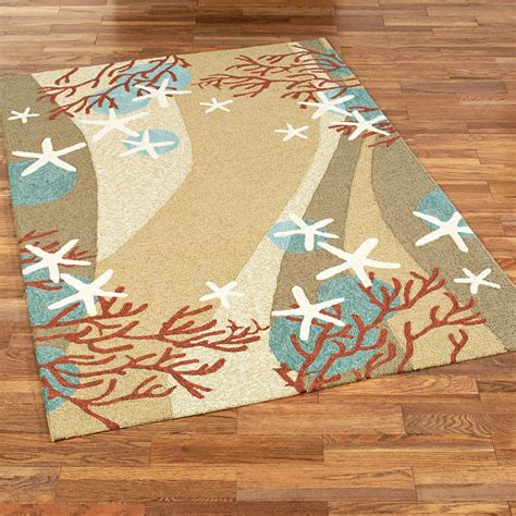 Indoor Outdoor Patio Rugs Coral Waves Coastal Indoor Outdoor Rugs