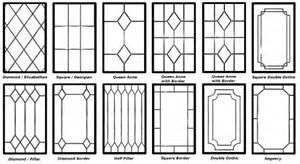 Decorative leaded glazing designs home