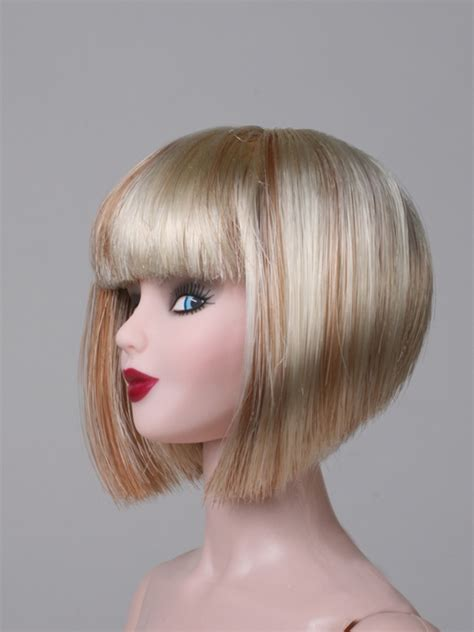 blonde bob wig short bob wig blonde with red highlite doll not included