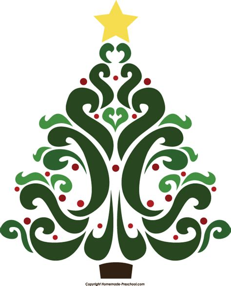 fancy christmas tree clipart