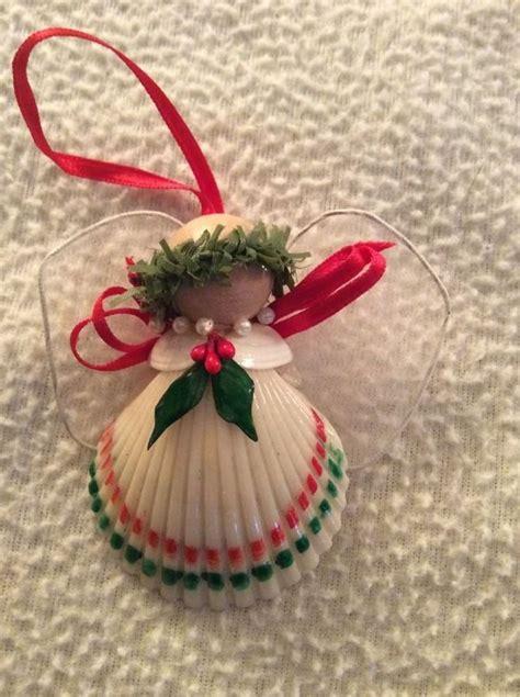 shell handmade angel christmas ornament christmas