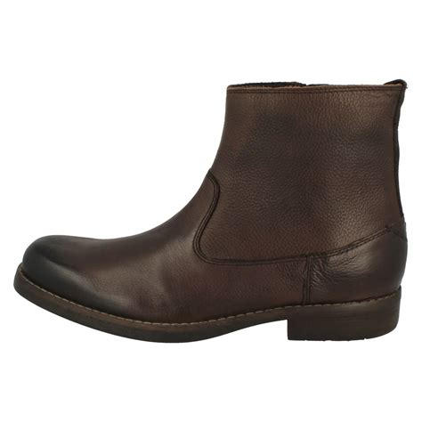 mens clarks smart boots ashburn zip ebay
