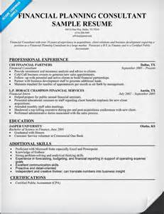 Financial Services Consultant Sle Resume by Financial Consulting Resume Exle Resume Format