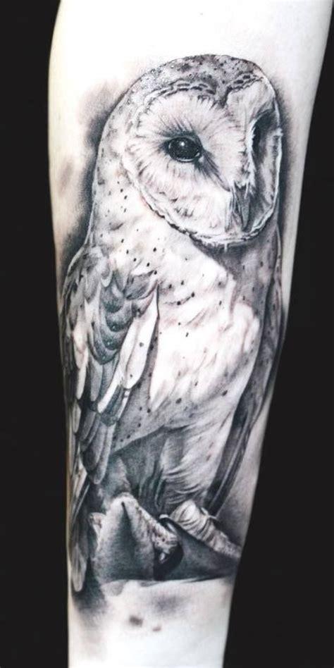 owl tattoo black and white realistic black white barn owl tattoo
