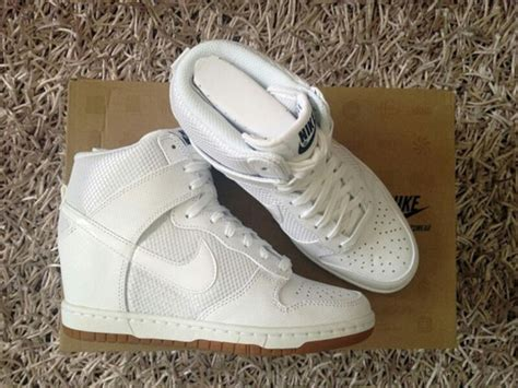 shoes nike wedge sneakers all white everything tennis