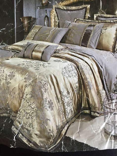 Luxury Duvet Cover Sets 4pcs Luxury Damask Tribute Silk Bedding Set King Size