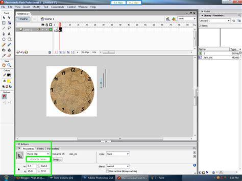 cara membuat jam dinding dengan macromedia flash 8 cara membuat animasi jam analog berformat swf di