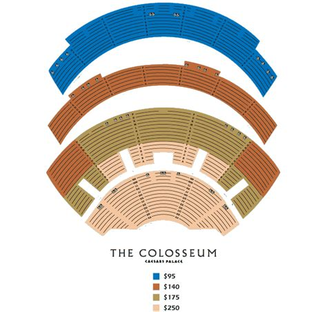 colosseum at caesars palace seating chart discount