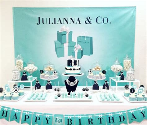 breakfast at tiffany s party props set 20 piece by tiffany breakfast at tiffanys themed party backdrop on