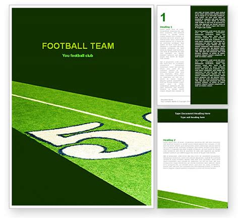 american football field word template