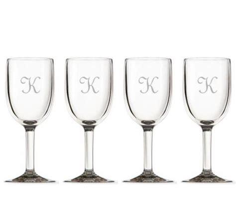 Acrylic Barware Glasses Monogrammed Acrylic Wine Glasses