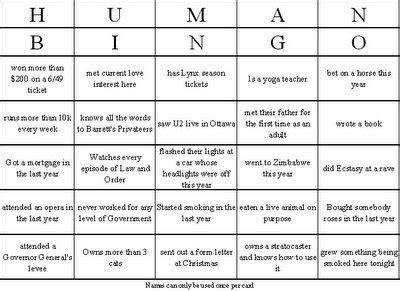 icebreaker bingo card template 9 best images of printable human bingo templates human