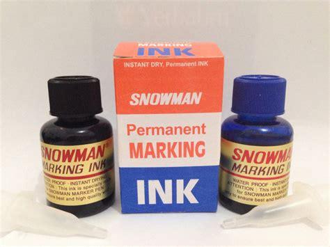 Snowman Refil Tinta Spidol Permanent Merah jual tinta snowman permanent marking ink refill tinta