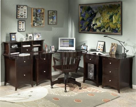 Home Office Desk Options Espresso Finish Home Office Desk W Options