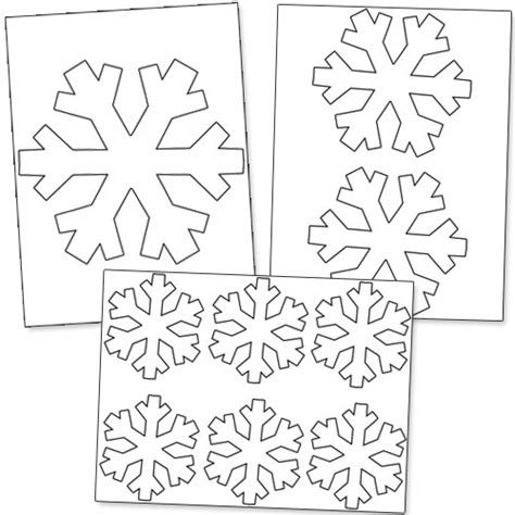 printable stencils of snowflakes printable snowflakes stencils images