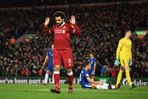 epl goal l pool 1 1 chelsea salah nets his 10th epl goal at