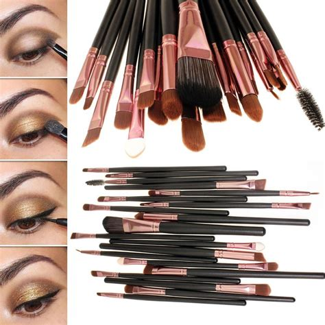 Kuas Make Up Satu Set cosmetic make up brush 20 set kuas make up black