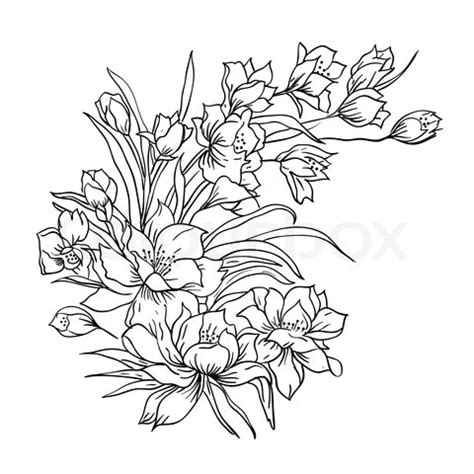 Drawing Outlines For Painting by Bouquet Of Flowers Lets Get Tattoos Flower Tattoos And Piercings