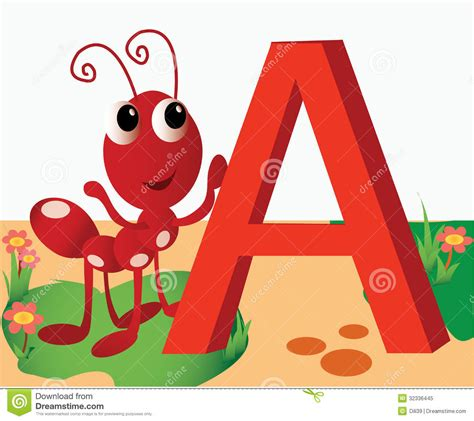 Letter A Images animal alphabet a stock vector image of clipart book