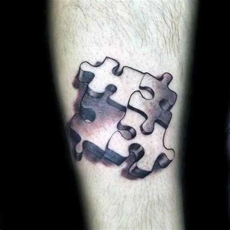 jigsaw puzzle tattoo designs 70 puzzle designs for inquisitive mind ink