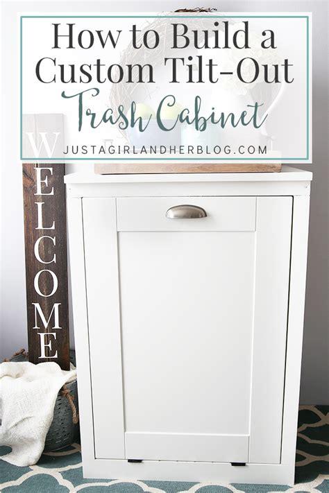 build  custom tilt  trash cabinet kitchen