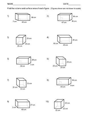 volume and surface area of rectangular prisms two