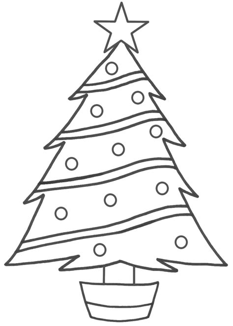 simple christmas tree drawing christmas lights decoration