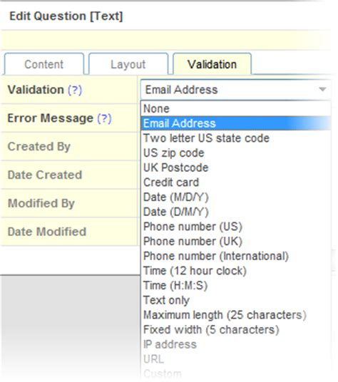 us area code validation product tips more question type variations clicktools