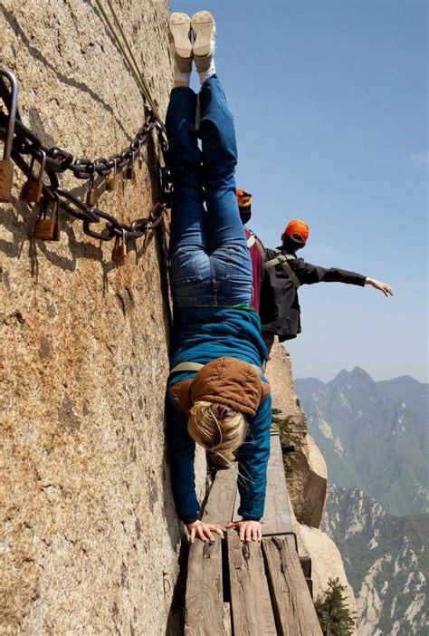the most dangerous the most dangerous hiking trail to huashan teahouse 187 tripfreakz