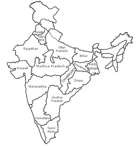 coloring pages of india map india map outline with states sketch coloring page