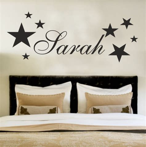name on bedroom wall your name personalised wall art stickers kids stars