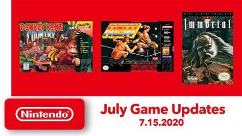 nes  snes games coming  nintendo switch   july  bgr