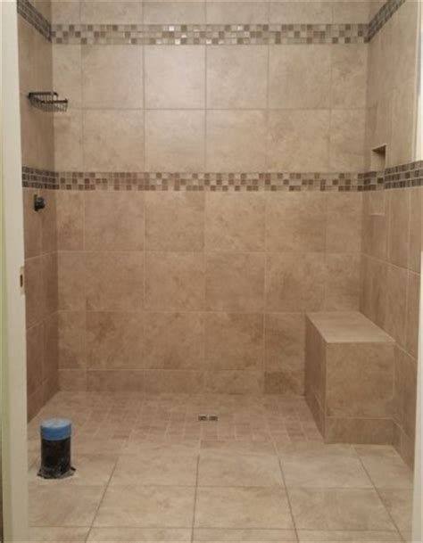Bathroom Shower Wall Ideas curbless showers 171 aga tile bathrooms amp kitchens