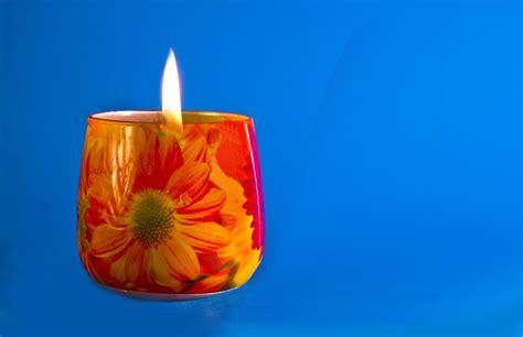 blue candle lighting free images light petal vase blue candle