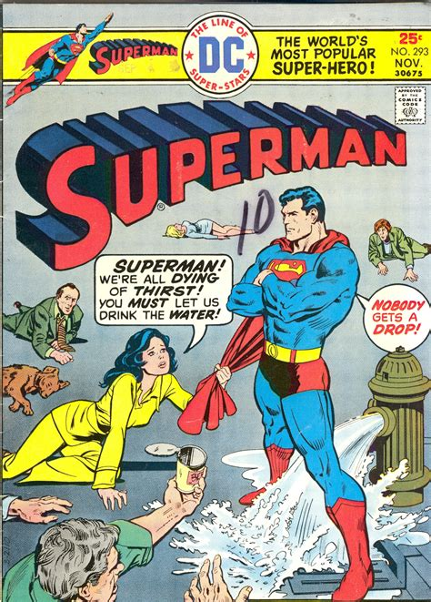 superman comic book pictures comic covers superman 293 the miracle of thirsty