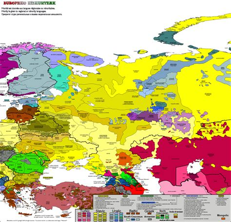 russia linguistic map eastern europe carte linguistique linguistic map