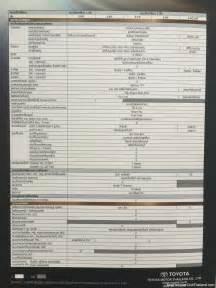 Fortuner Specs 2016 Toyota Fortuner Spec Sheet