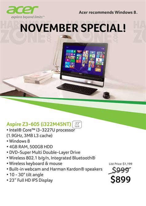 Hp Acer Promo acer z3 aio pc promo brochures from cee singapore on tech